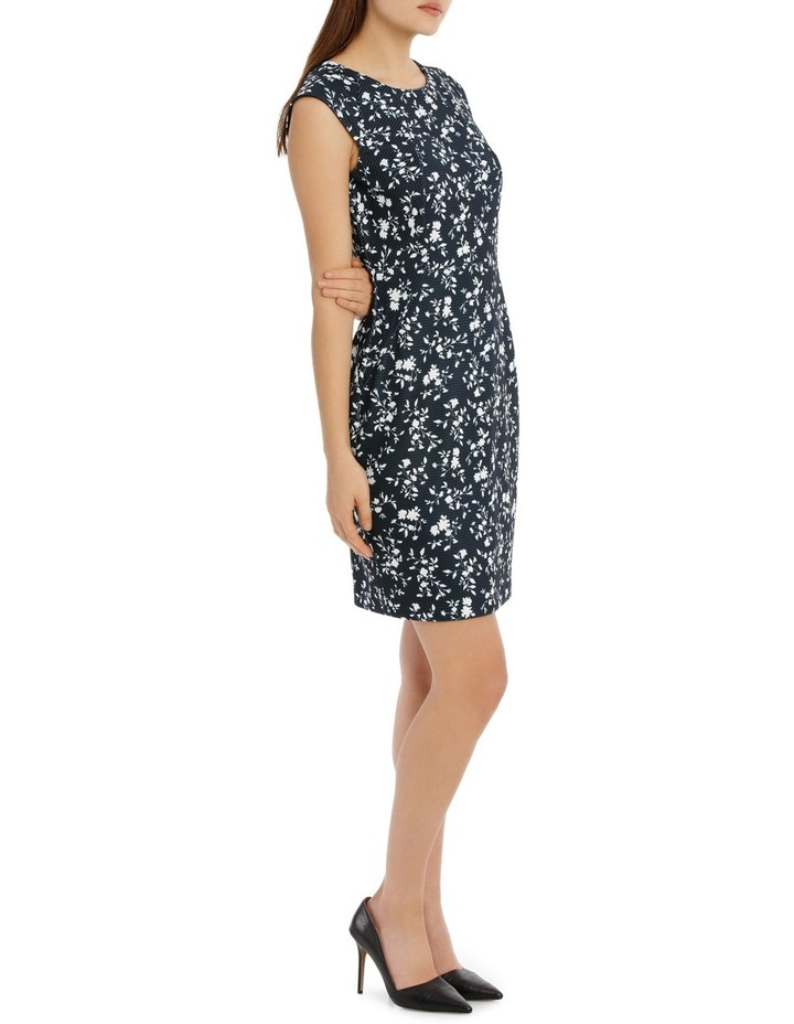 textured body con dress - silhouette print image 2