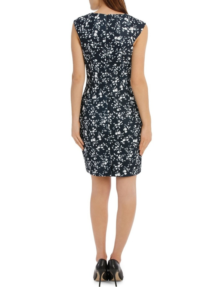 textured body con dress - silhouette print image 3