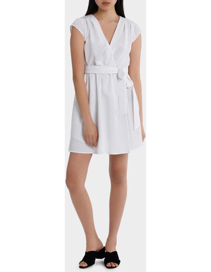 Wrap Work Dress - Spot Print image 1