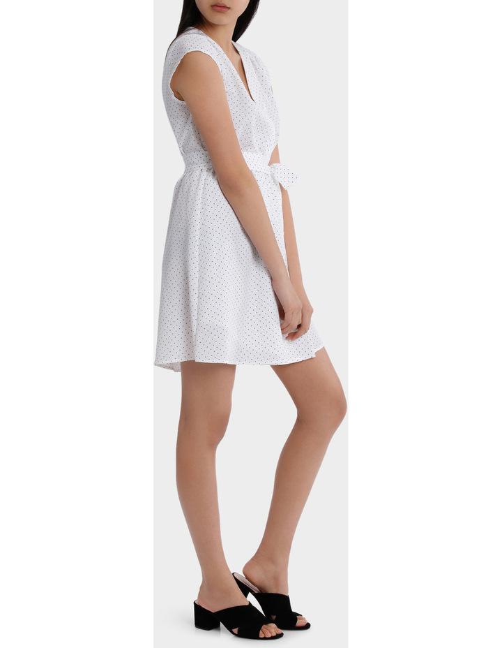 Wrap Work Dress - Spot Print image 2