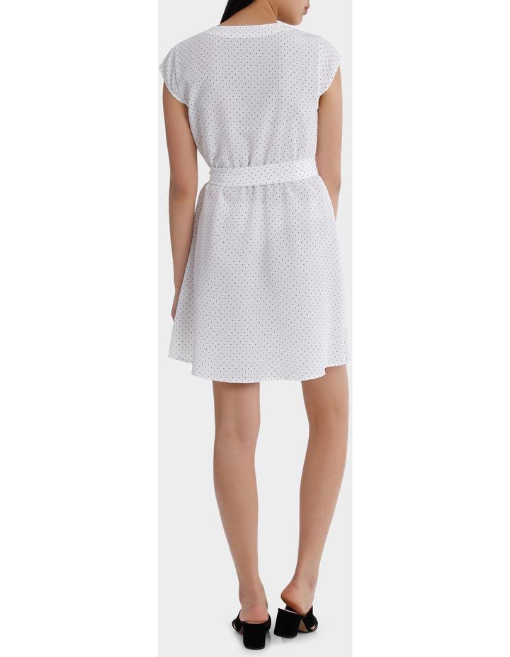 Wrap Work Dress - Spot Print image 3