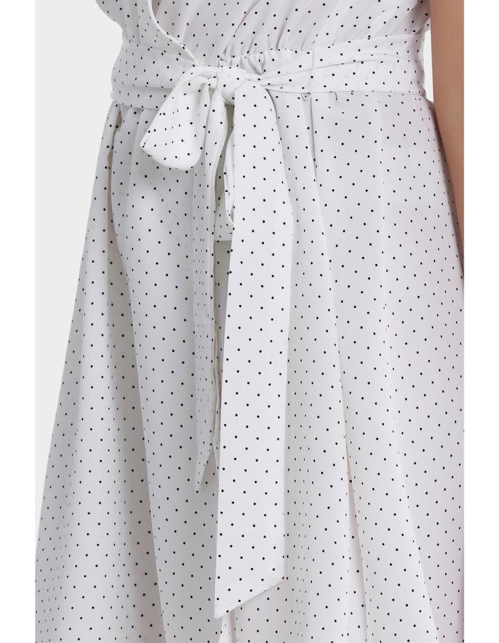 Wrap Work Dress - Spot Print image 4