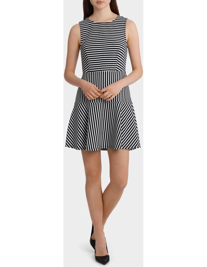 Mixed Stripe Skater Dress image 1