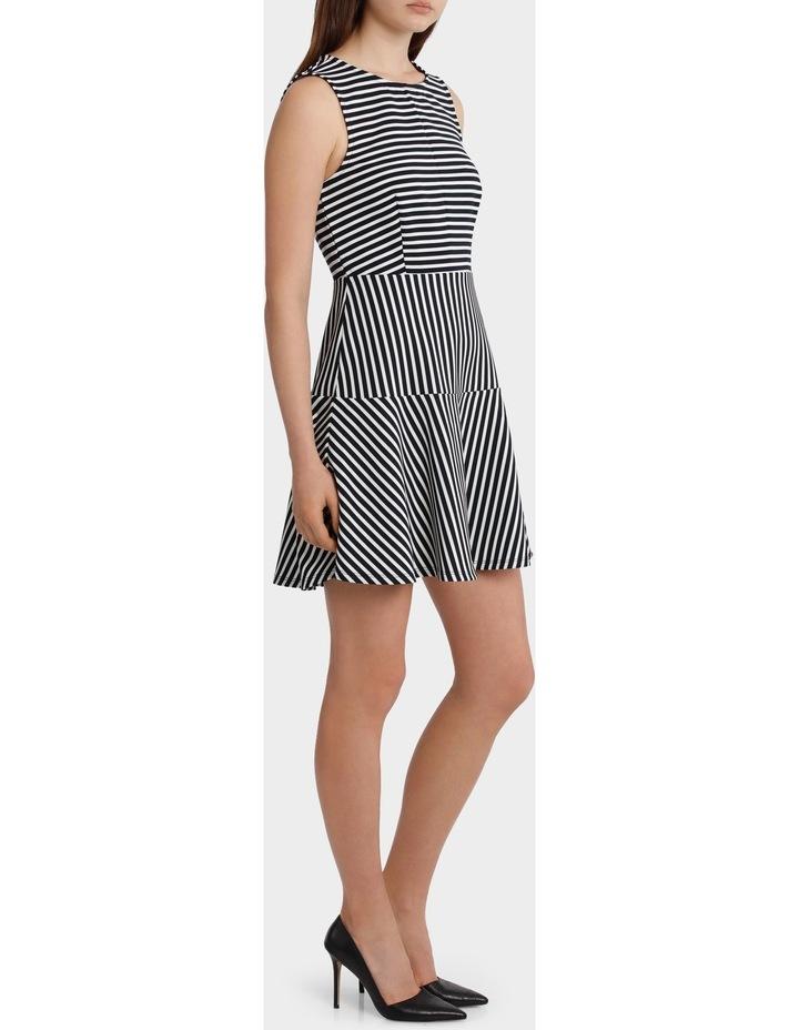 Mixed Stripe Skater Dress image 2