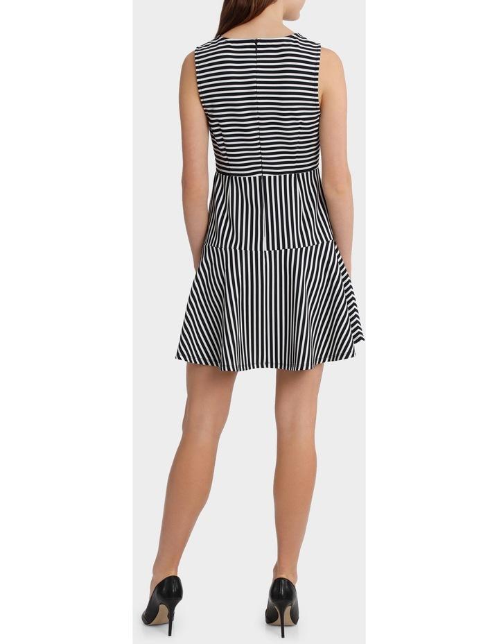 Mixed Stripe Skater Dress image 3