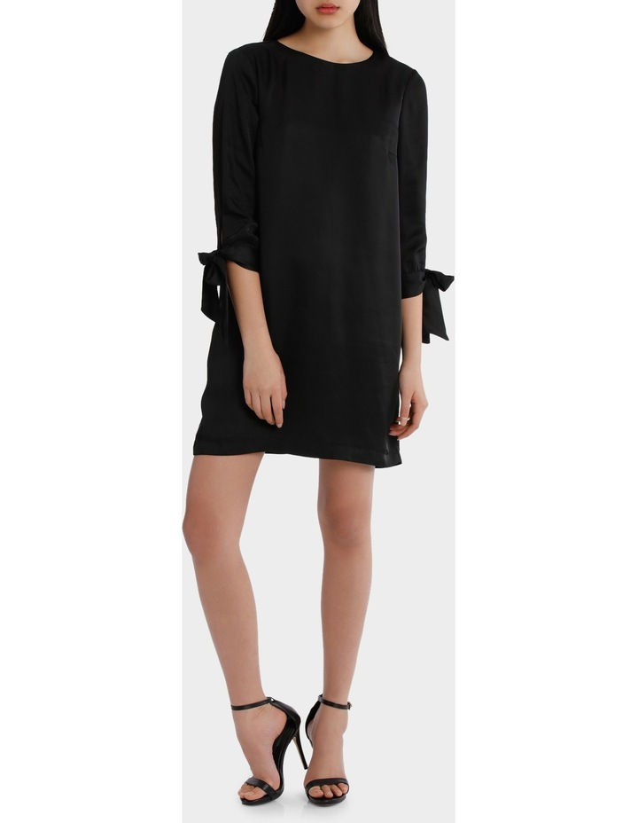 shift with tie sleeves - black image 1