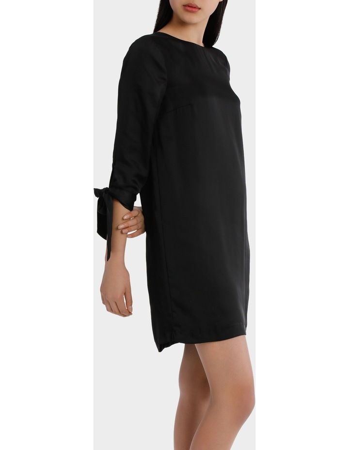 shift with tie sleeves - black image 2