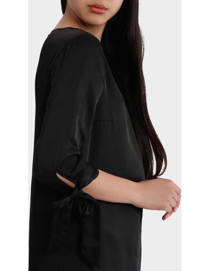 shift with tie sleeves - black image 4