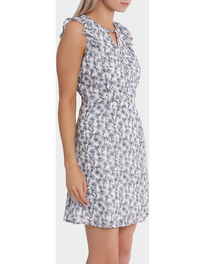 key hole frill sleeve dress - posey floral image 2