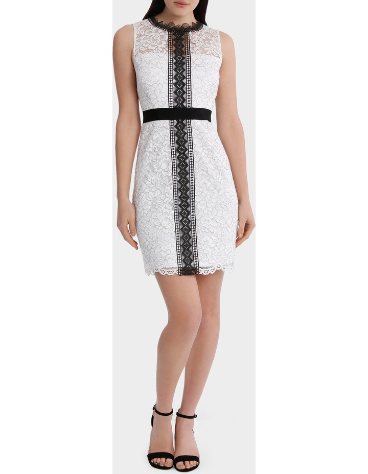 High Neck Lace Dress With Lace Trims image 1