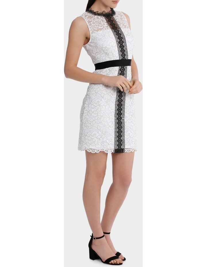 High Neck Lace Dress With Lace Trims image 2