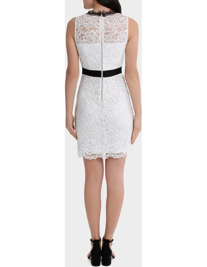 High Neck Lace Dress With Lace Trims image 3