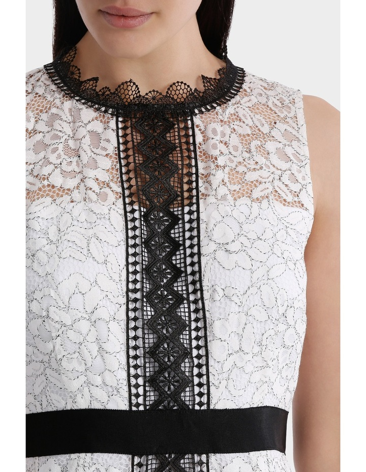 High Neck Lace Dress With Lace Trims image 4