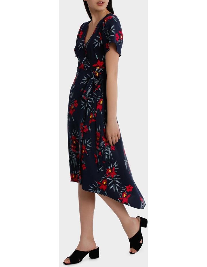 maxi wrap dress - tropical print image 2