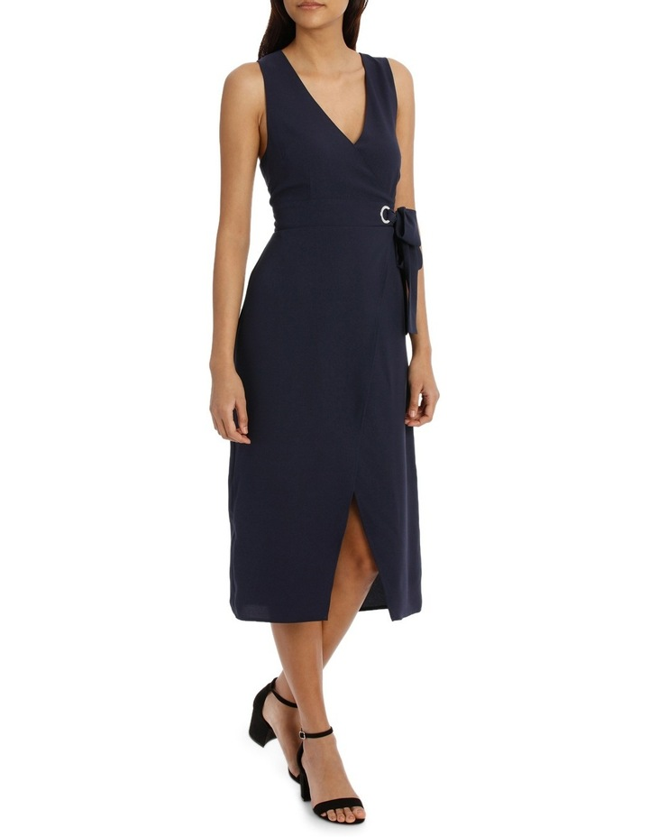 Eyelet Wrap Midi Dress image 2