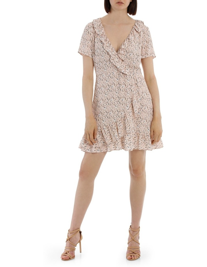 Frilly Mock Wrap Work Dress - Scattered Daisy image 1