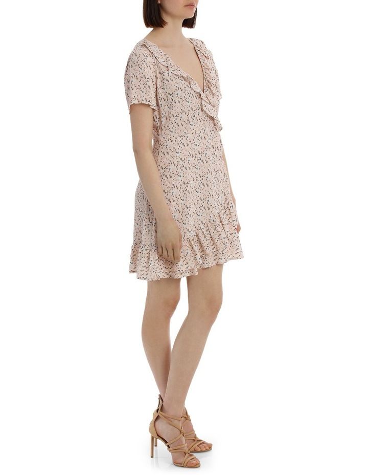 Frilly Mock Wrap Work Dress - Scattered Daisy image 2