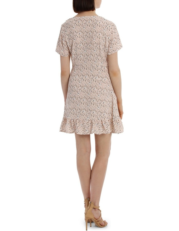Frilly Mock Wrap Work Dress - Scattered Daisy image 3