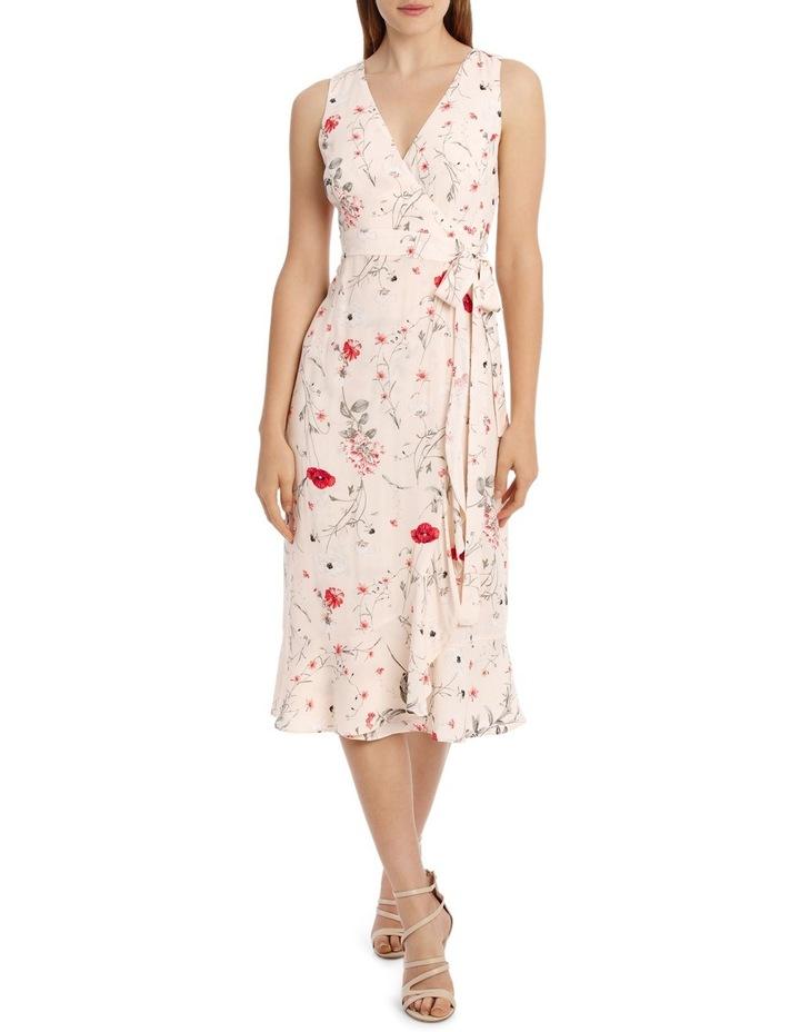 Sleeveless Wrap Midi Dress - Meadow Flowers image 1