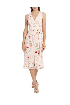 Tokito - Sleeveless Wrap Midi Dress - Meadow Flowers