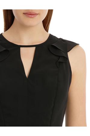 Tokito - Key Hole Frill Sleeve Dress