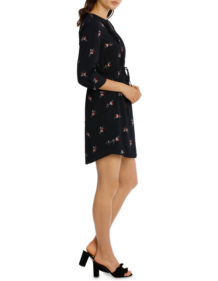 Pleat Front Shirt Dress - Spray Floral image 2