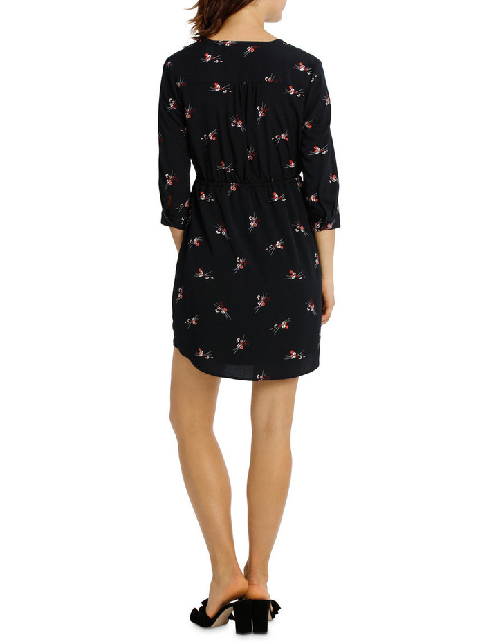 Pleat Front Shirt Dress - Spray Floral image 3