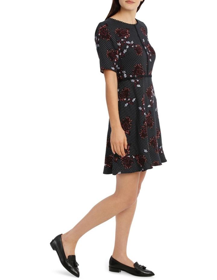Lace Trim Print Dress - Burst Bloom image 2