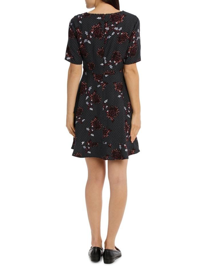 Lace Trim Print Dress - Burst Bloom image 3