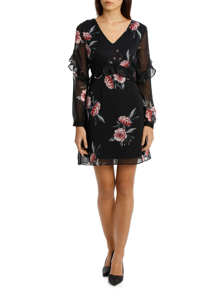 Chiffon Frill Dress - Peony Bloom image 1