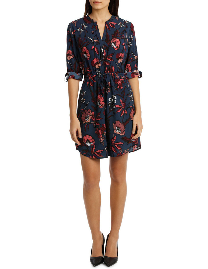 Collarless Shirt Dress Spiced Poppy image 1