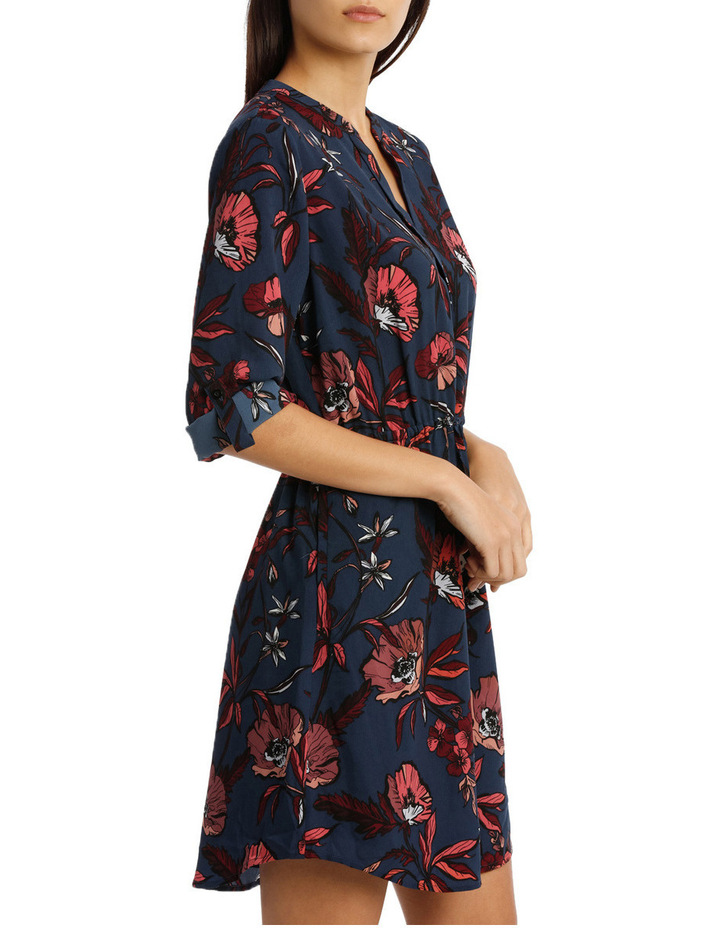 Collarless Shirt Dress Spiced Poppy image 2