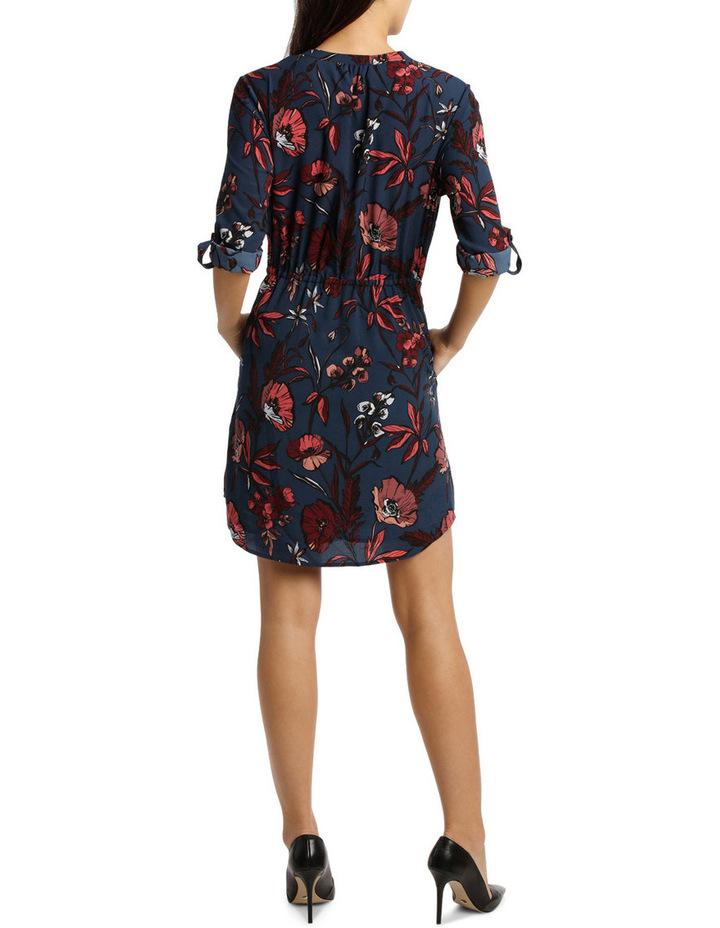 Collarless Shirt Dress Spiced Poppy image 3
