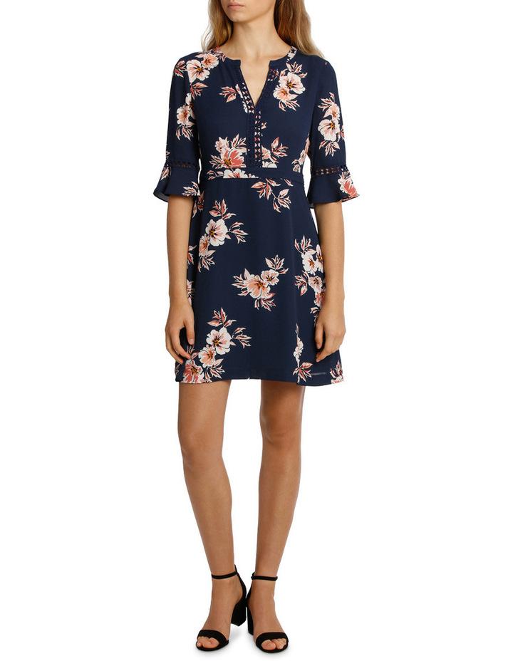 Frill Waist Print Dress - Desert Floral image 1