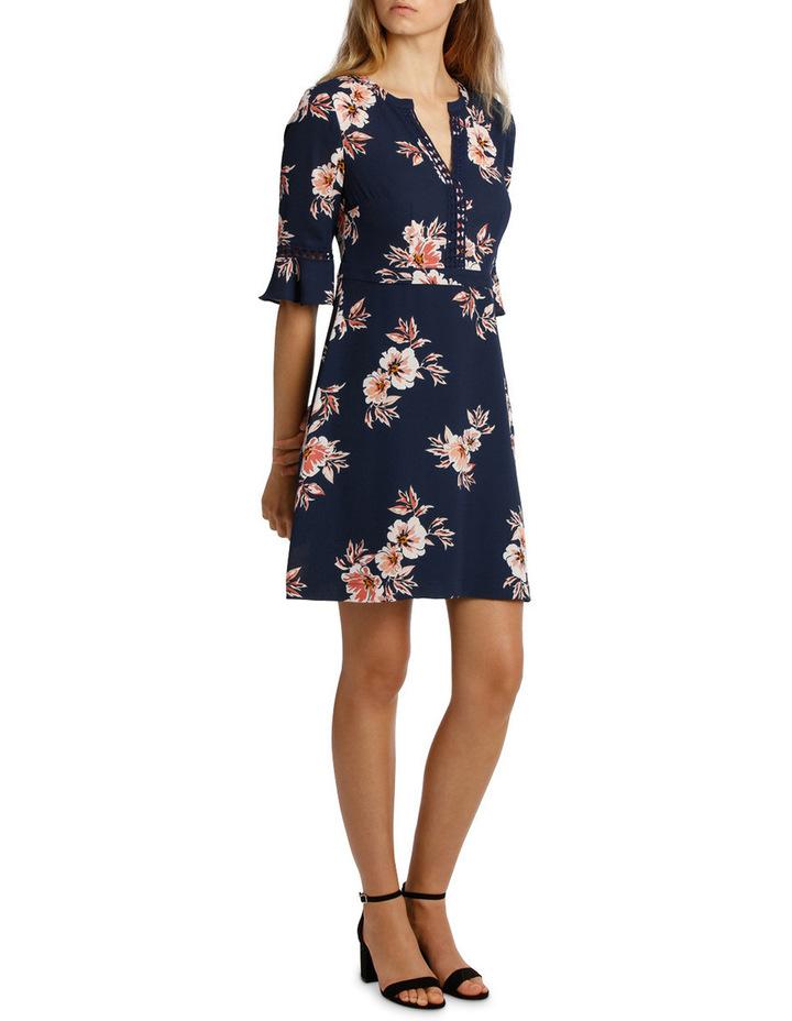 Frill Waist Print Dress - Desert Floral image 2