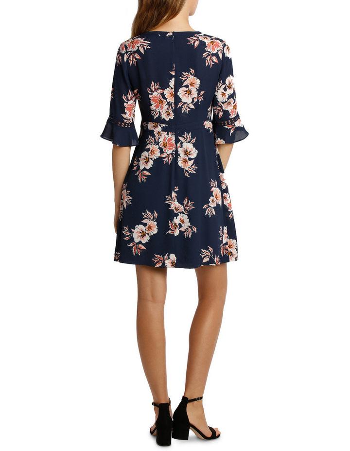 Frill Waist Print Dress - Desert Floral image 3