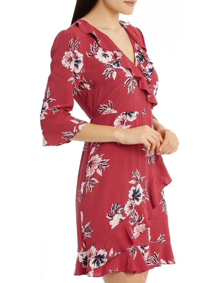 Mock Wrap Frill Sleeve Dress image 2
