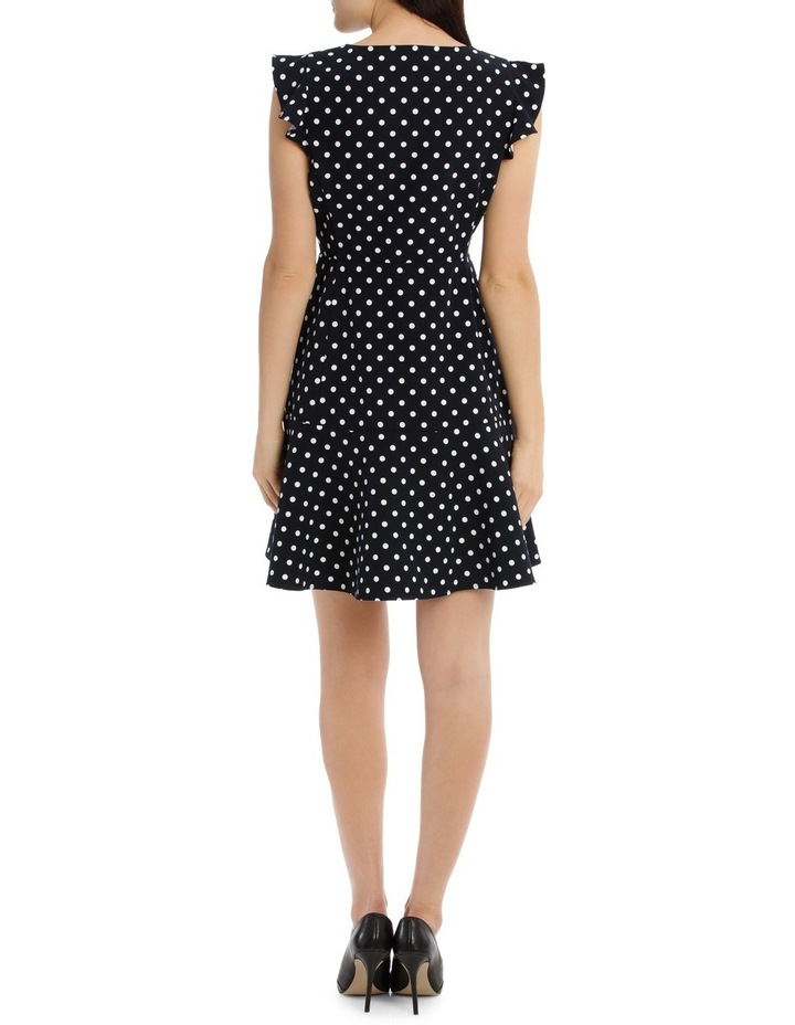 Zip Front Work Dress - Polka Dot image 3