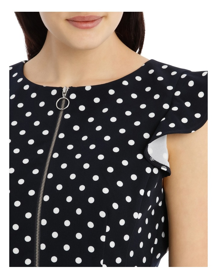 Zip Front Work Dress - Polka Dot image 4