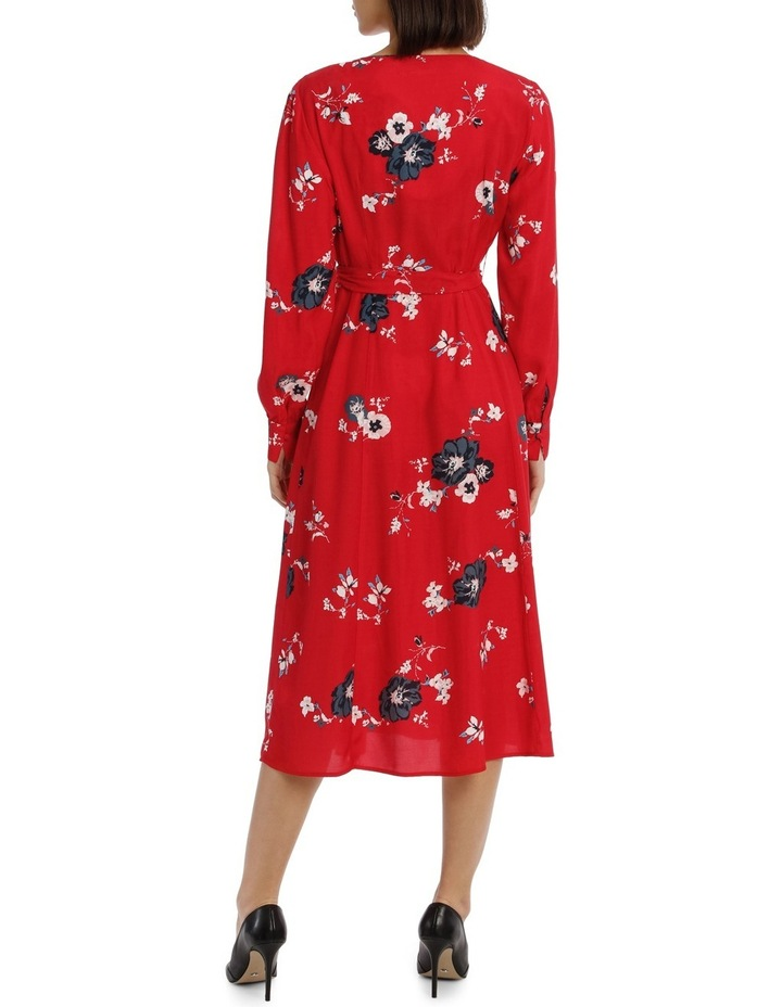 Button Front Midi Dress - Exploded Poppy Print image 3