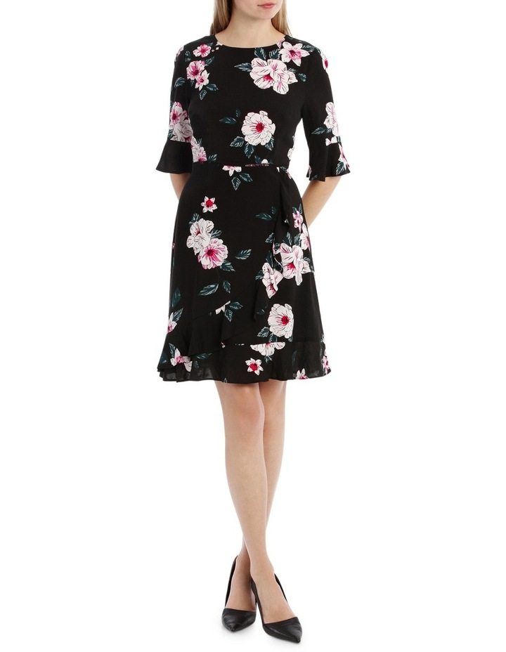 Mock Wrap Skirt Dress - Large Bloom image 1