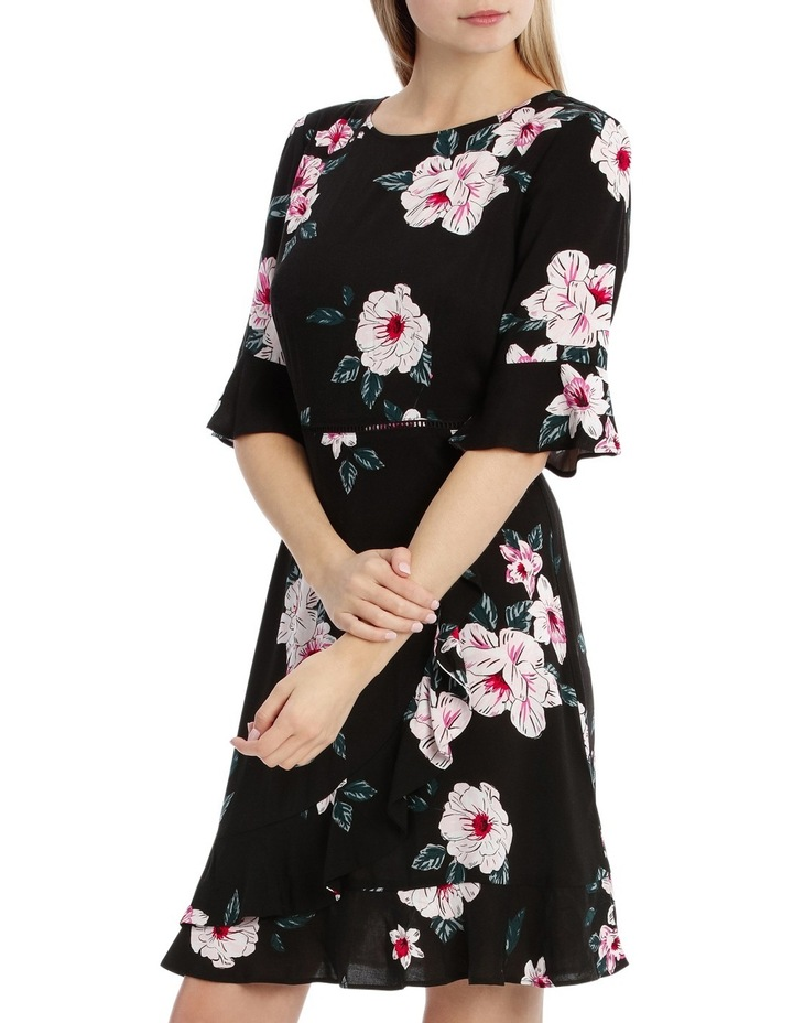 Mock Wrap Skirt Dress - Large Bloom image 2