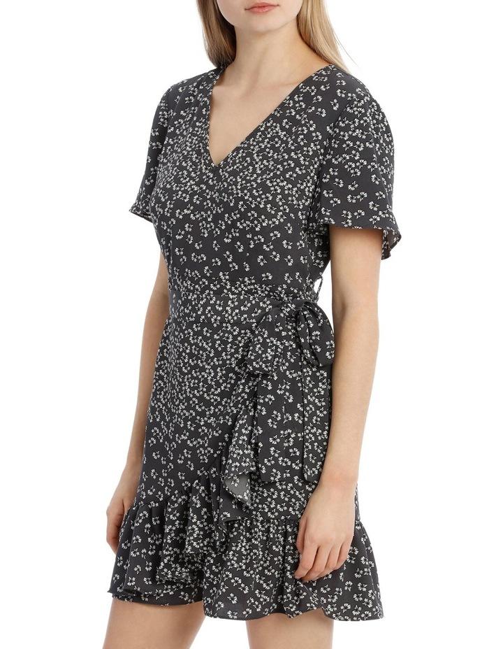 Apron Front Wrap Dress - Scattered Floral image 2