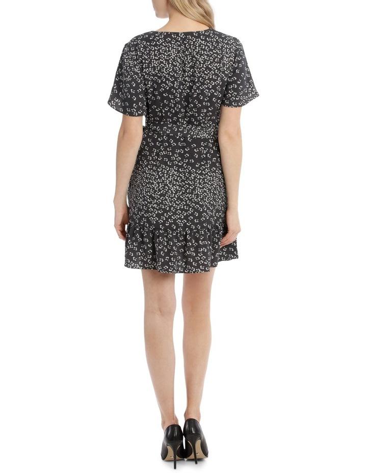 Apron Front Wrap Dress - Scattered Floral image 3