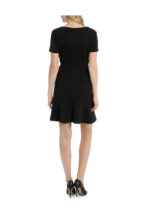 Tokito - Textured Jacquard Fit And Flare Dress