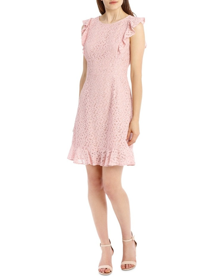 Flutter Sleeve Lace Dress - Cosmetic Pink image 1
