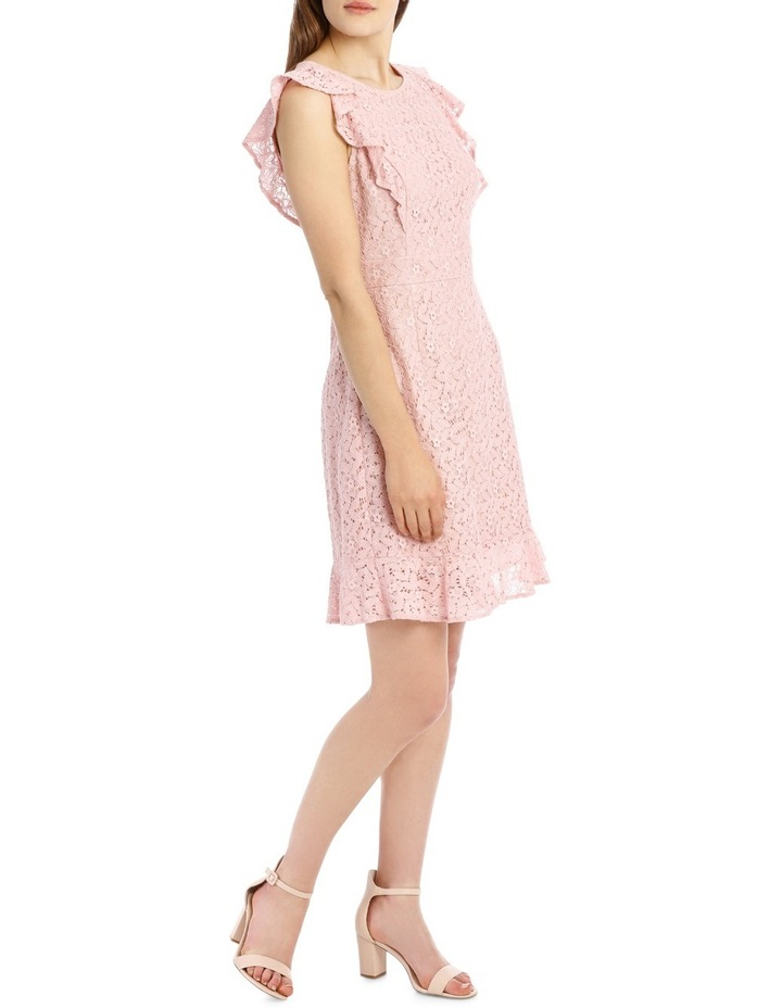 Flutter Sleeve Lace Dress - Cosmetic Pink image 2