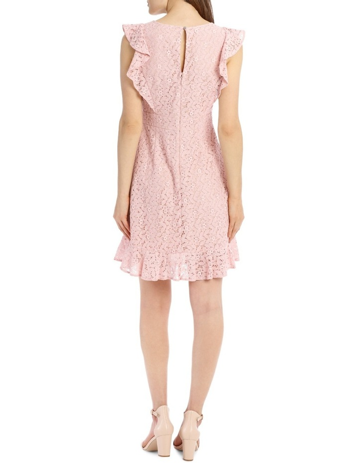 Flutter Sleeve Lace Dress - Cosmetic Pink image 3