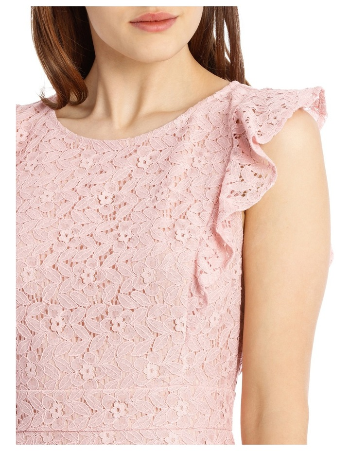 Flutter Sleeve Lace Dress - Cosmetic Pink image 4