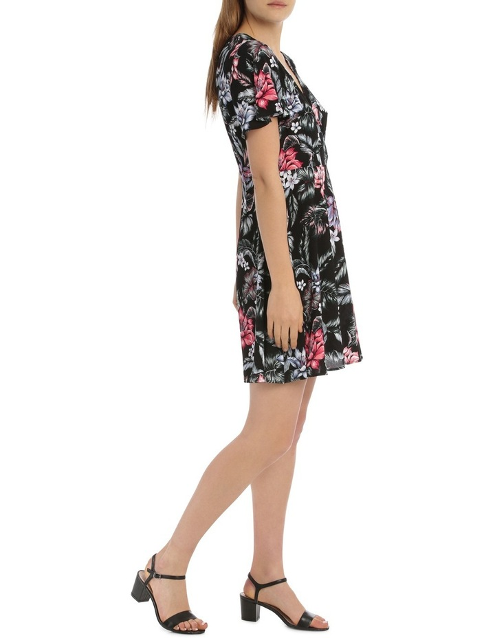 Cross Front Fit And Flare Dress - Tropical Floral image 2